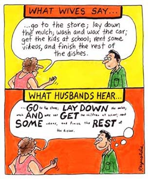 What Wives Say / What Husbands Hear